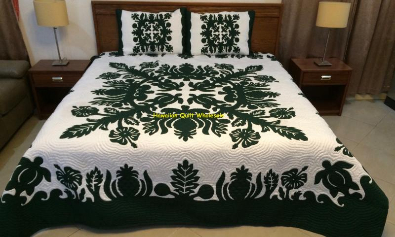 Breadfruit-Turtles-Hibiscus-Pineapple-BG<br> 2 pillow shams included<br><font color=red>Superior Materials</font>